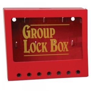 Caja de bloqueo metálica para grupos de montaje mural
