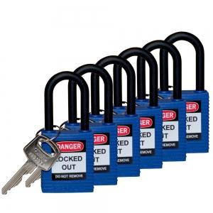 Candados seguridad estándar arco nailon LOTO