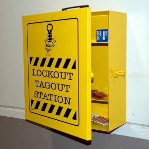 Estación de bloqueo para uso industrial