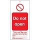 Etiquetas de advertencia NO abrir
