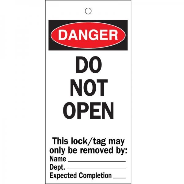 Etiquetas de advertencia de riesgos NO abrir