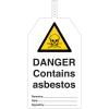 Etiquetas de seguridad Aviso contenido amianto