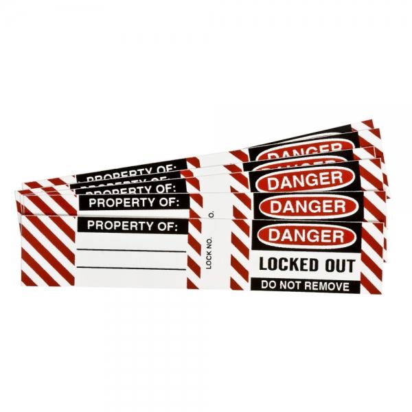 Etiquetas para candados de acero