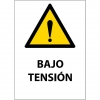 Letrero magnético Advertencia Peligro Bajo Tensión
