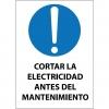 Letrero magnético Obligación cortar la electricidad antes del mantenimiento