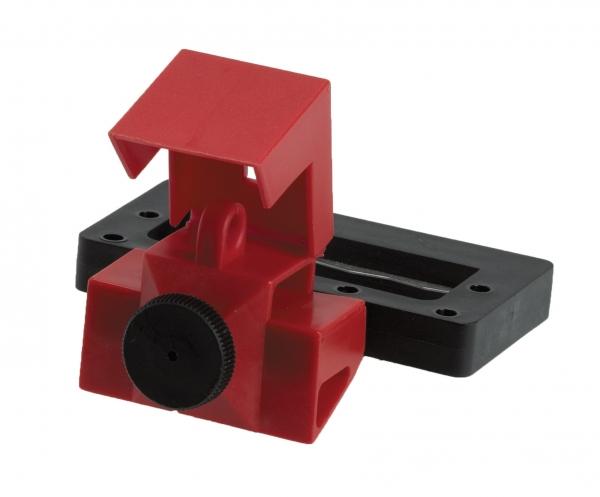 Sistema de bloqueo de disyuntores sin agujeros