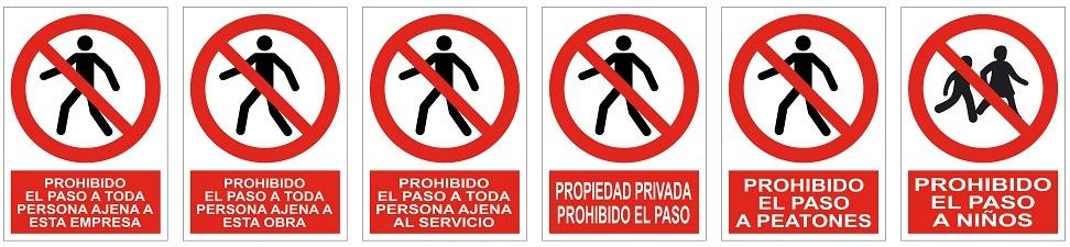 Señales prohibicion
