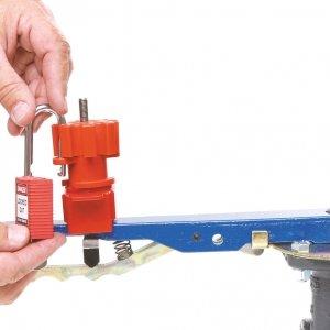 Sistema de bloqueo universal de válvulas