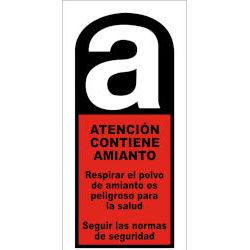 Aviso contenido amianto