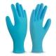 Guante desechable de nitrilo azul
