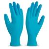 Guante desechable de vinilo azul
