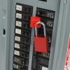 Ejemplo uso Safekey candado aluminio con arco de acero